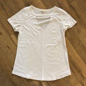 Tops - White cutout t-shirt